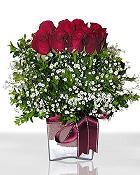 Hatay 14 şubat sevgililer günü çiçek  11 adet gül mika yada cam - anneler günü seçimi -
