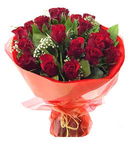 Hatay çiçek gönderme  11 adet kimizi gülün ihtisami buket modeli