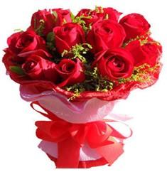 9 adet kirmizi güllerden kipkirmizi buket  Hatay kaliteli taze ve ucuz çiçekler