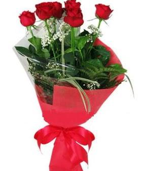 5 adet kırmızı gülden buket  Hatay hediye çiçek yolla