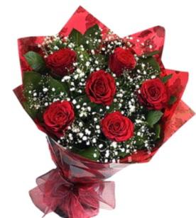 6 adet kırmızı gülden buket  Hatay çiçek siparişi sitesi