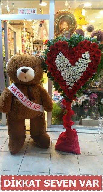 1.5 Metre peluş ayı ve Kalp  Hatay çiçek siparişi vermek