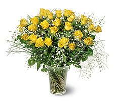 Hatay çiçek servisi , çiçekçi adresleri  15 adet sarigül mika yada cam vazoda