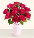 Hatay hediye sevgilime hediye çiçek  10 kirmizi gül cam yada mika vazo tanzim