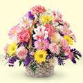 Hatay çiçek gönderme sitemiz güvenlidir  sepet içerisinde gül ve mevsim