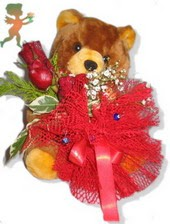 oyuncak ayi ve gül tanzim  Hatay kaliteli taze ve ucuz çiçekler