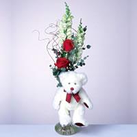 2 adet gül ve panda özel  Hatay çiçek online çiçek siparişi