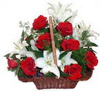sepette gül ve kazablankalar   Hatay çiçek online çiçek siparişi