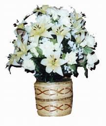 yapay karisik çiçek sepeti   Hatay ucuz çiçek gönder