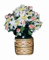 yapay karisik çiçek sepeti   Hatay çiçek , çiçekçi , çiçekçilik