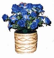 yapay mavi çiçek sepeti  Hatay İnternetten çiçek siparişi
