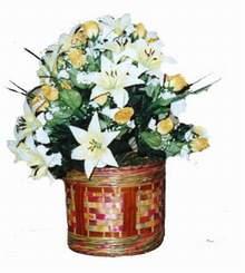 yapay karisik çiçek sepeti   Hatay İnternetten çiçek siparişi