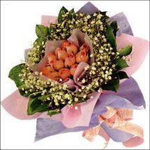 11  adet  gül ve   elyaflar   Hatay çiçek online çiçek siparişi