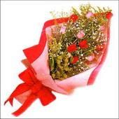 12 adet renkli  gül buketi   Hatay çiçek online çiçek siparişi