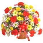 karisik renkli çiçek sepet   Hatay çiçek siparişi vermek
