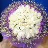 71 adet beyaz gül buketi   Hatay 14 şubat sevgililer günü çiçek