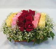 15 adet reprenkli gül sepeti   Hatay online çiçek gönderme sipariş