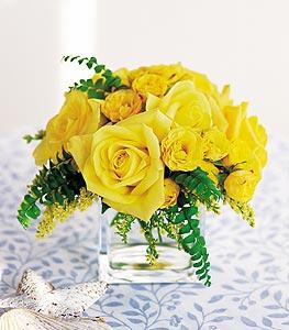 Hatay İnternetten çiçek siparişi  cam içerisinde 12 adet sari gül