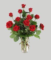 Hatay İnternetten çiçek siparişi  11 adet kirmizi gül vazo halinde
