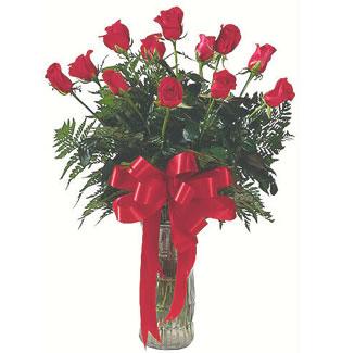 12 adet gül cam içerisinde  Hatay İnternetten çiçek siparişi