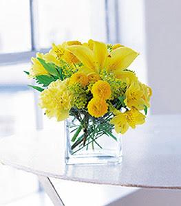 Hatay anneler günü çiçek yolla  sarinin sihri cam içinde görsel sade çiçekler