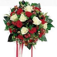 Hatay anneler günü çiçek yolla  6 adet kirmizi 6 adet beyaz ve kir çiçekleri buket