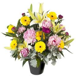 karisik mevsim çiçeklerinden vazo tanzimi  Hatay çiçek gönderme sitemiz güvenlidir