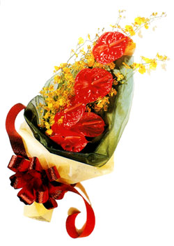 özel 5 adet antorium buketi   Hatay çiçek siparişi vermek