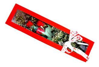 Hatay hediye sevgilime hediye çiçek  Kutuda 3 adet gül