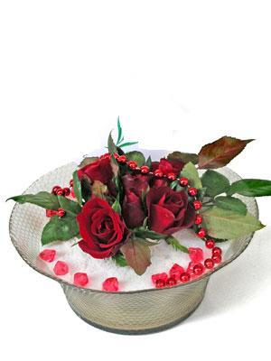 Hatay yurtiçi ve yurtdışı çiçek siparişi  EN ÇOK Sevenlere 7 adet kirmizi gül mika yada cam tanzim