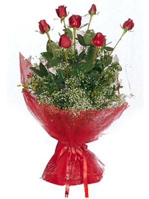 Hatay çiçek , çiçekçi , çiçekçilik  7 adet gülden buket görsel sik sadelik