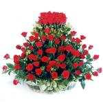 Hatay hediye çiçek yolla  41 adet kirmizi gülden sepet tanzimi