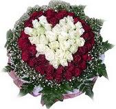 Hatay ucuz çiçek gönder  27 adet kirmizi ve beyaz gül sepet içinde