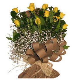 Hatay online çiçek gönderme sipariş  9 adet sari gül buketi