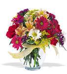 Hatay 14 şubat sevgililer günü çiçek  cam yada mika vazo içerisinde karisik kir çiçekleri