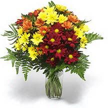 Hatay çiçek servisi , çiçekçi adresleri  Karisik çiçeklerden mevsim vazosu