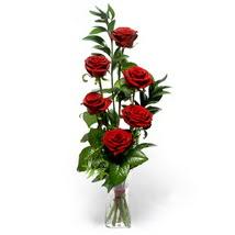 Hatay çiçek servisi , çiçekçi adresleri  cam yada mika vazo içerisinde 6 adet kirmizi gül