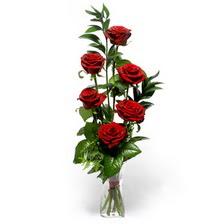 Hatay çiçek gönderme sitemiz güvenlidir  mika yada cam vazoda 6 adet essiz gül
