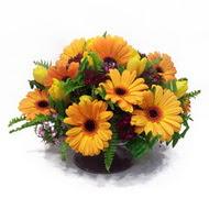 gerbera ve kir çiçek masa aranjmani  Hatay yurtiçi ve yurtdışı çiçek siparişi