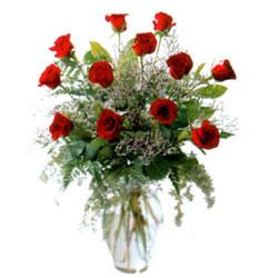 Vazo içerisinde 11 kirmizi gül  Hatay yurtiçi ve yurtdışı çiçek siparişi