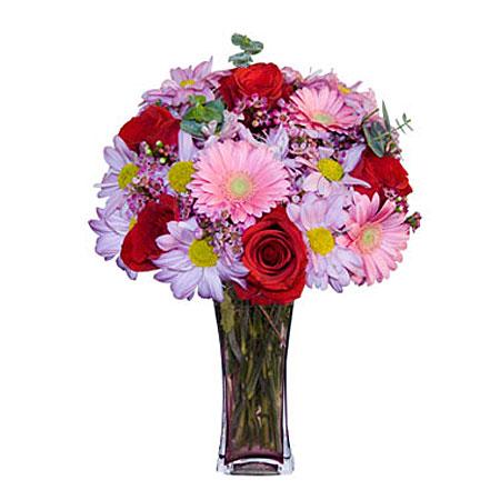 Görsel hediye karisik cam mevsim demeti  Hatay çiçek online çiçek siparişi