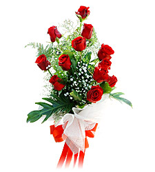 11 adet kirmizi güllerden görsel sölen buket  Hatay yurtiçi ve yurtdışı çiçek siparişi