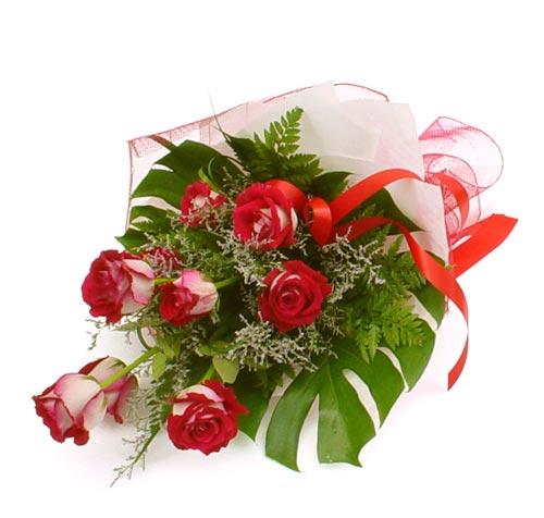 çiçek gönder 7 adet kirmizi gül buketi  Hatay hediye çiçek yolla