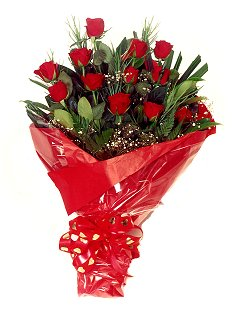12 adet kirmizi gül buketi  Hatay kaliteli taze ve ucuz çiçekler