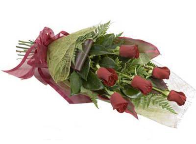 ucuz çiçek siparisi 6 adet kirmizi gül buket  Hatay çiçek servisi , çiçekçi adresleri