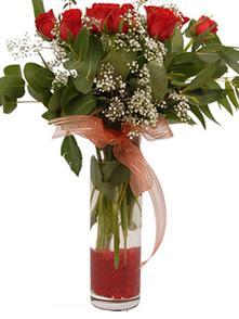 Hatay çiçek gönderme sitemiz güvenlidir  11 adet kirmizi gül vazo çiçegi