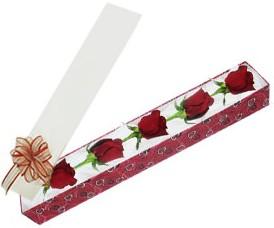 Hatay çiçek mağazası , çiçekçi adresleri  kutu içerisinde 5 adet kirmizi gül
