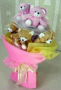8 adet ayiciktan buket  Hatay çiçek yolla , çiçek gönder , çiçekçi
