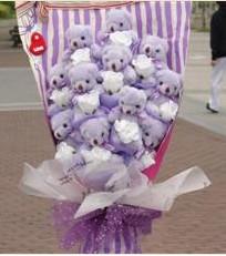 11 adet pelus ayicik buketi  Hatay çiçek siparişi vermek