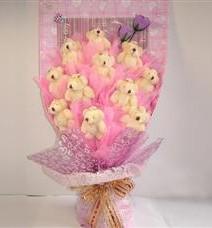 11 adet pelus ayicik buketi  Hatay online çiçek gönderme sipariş